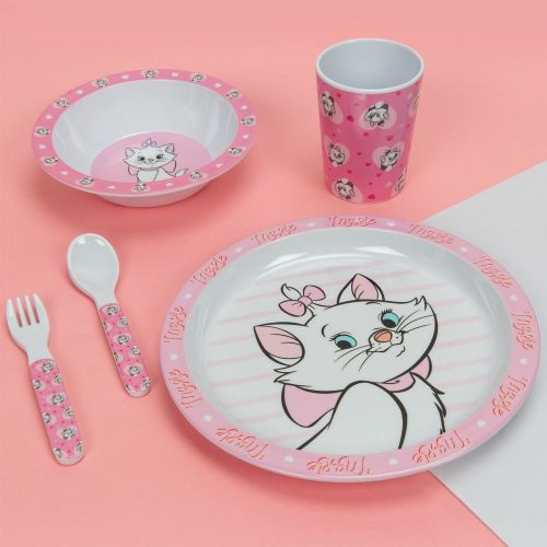 Disney Aristocats Marie 5 peice dinner set